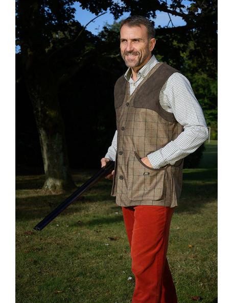 Milton men's shooting vest tweed