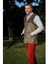 Milton men's shooting vest tweed