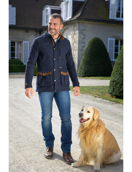 Goodwood stilfuld quiltet jakke til mænd