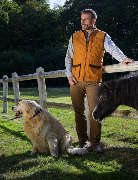 Thames stylish quilted gilet men