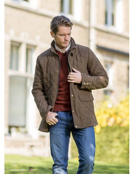 Hatfield stilfuld quiltet jakke til mænd
