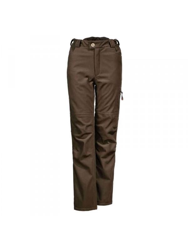 Varme fleeceforede brune jagtbukser til kvinder. Bukser til nyjægeren.