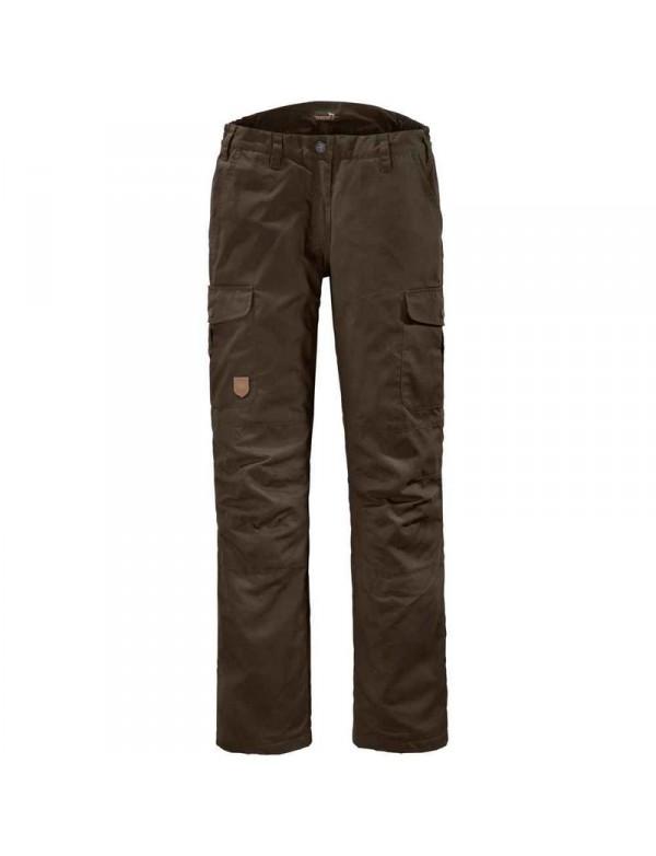 Varme fleeceforede brune jagtbukser til kvinder som er nyjægere.