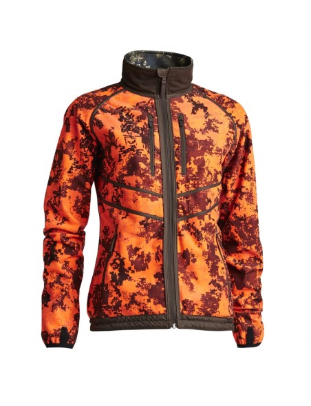 Groa vendbar camouflage fleece jakke fra Northern Hunting
