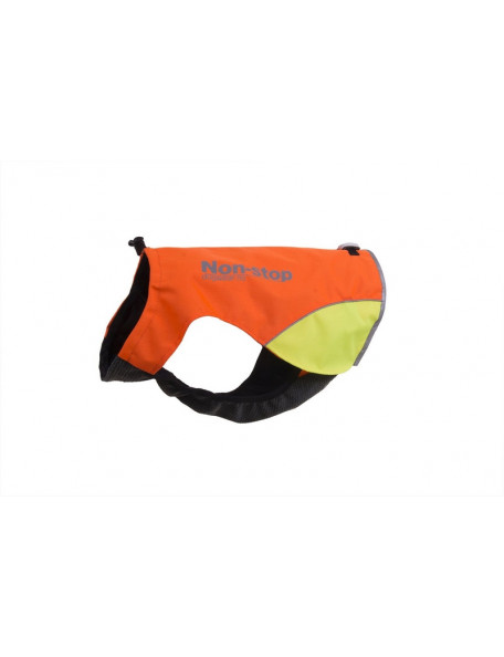 Protector hunting vest for the dog with yellow marking