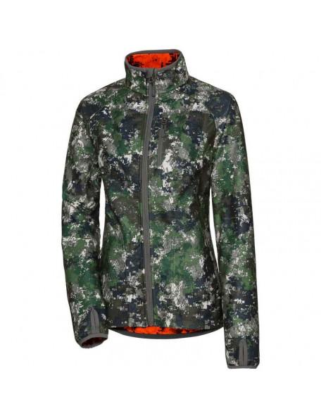 Vendbar camouflage fleece jakke til kvinder fra Parforce