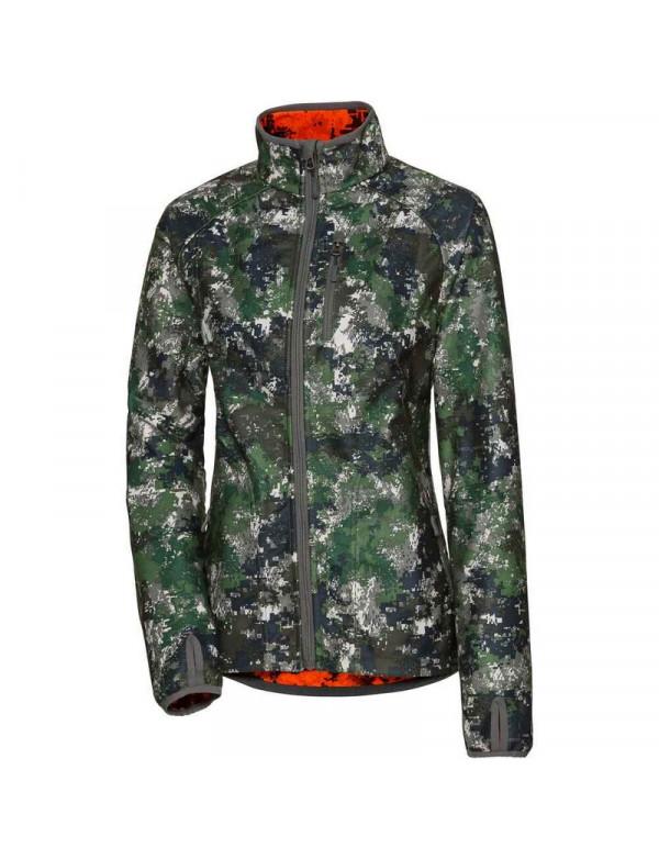 Vendbar camouflage fleece jakke til kvinder fra Parforce.