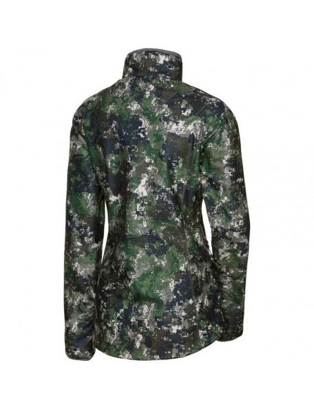 Vendbar camouflage fleece jakke til kvinder fra Parforce i grøn