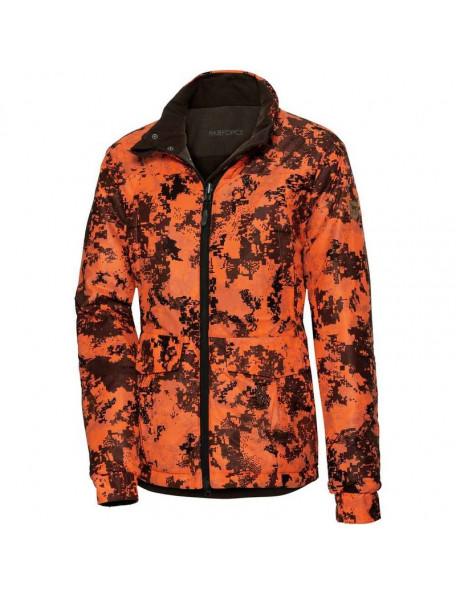 Vendbar vinter jagtjakke fra Parforce til kvinder med orange camouflage