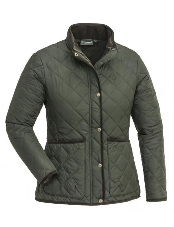 Lækker klassisk grøn quiltet jakke fra Pinewood til damer.