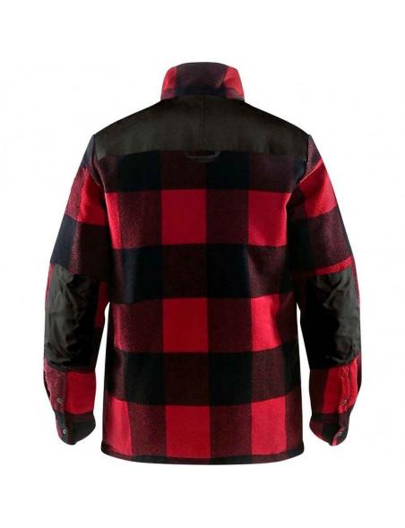 Fjällräven canadisk skovmandsskjorte til kvinder i rød og sort