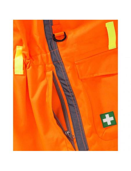 Orange hundefører jakke til kvinder med sikkerhed