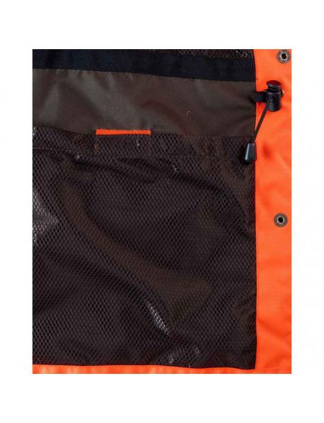 Orange hundefører jakke til kvinder lommer