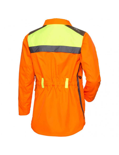 Orange hundefører jakke til kvinder med reflekser