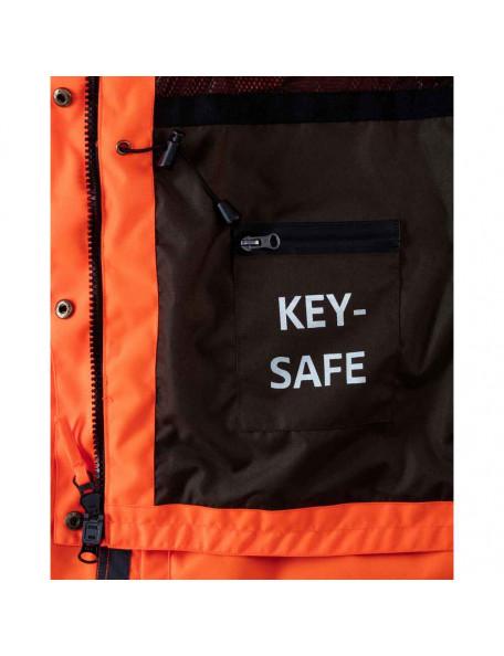 Orange hundefører jakke til kvinder med nøglelomme