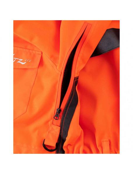 Orange hundefører jakke til kvinder med radiolomme