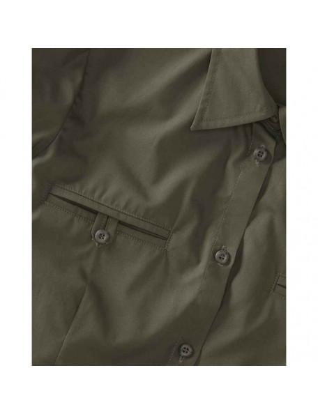 Feminin mørkegrøn jagtskjorte med to lommer