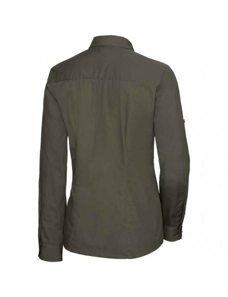 Feminin mørkegrøn jagtskjorte