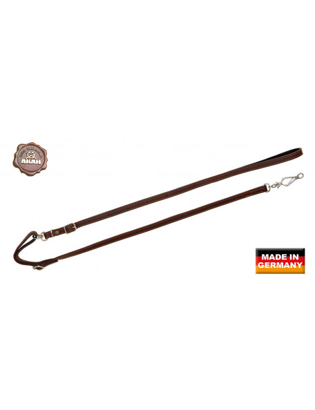 Dog leash in leather