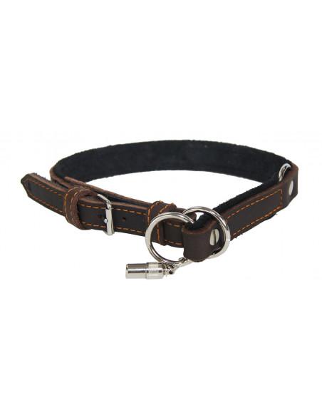 Hundehalsbånd i læder med hurtigt slip fra AKAH