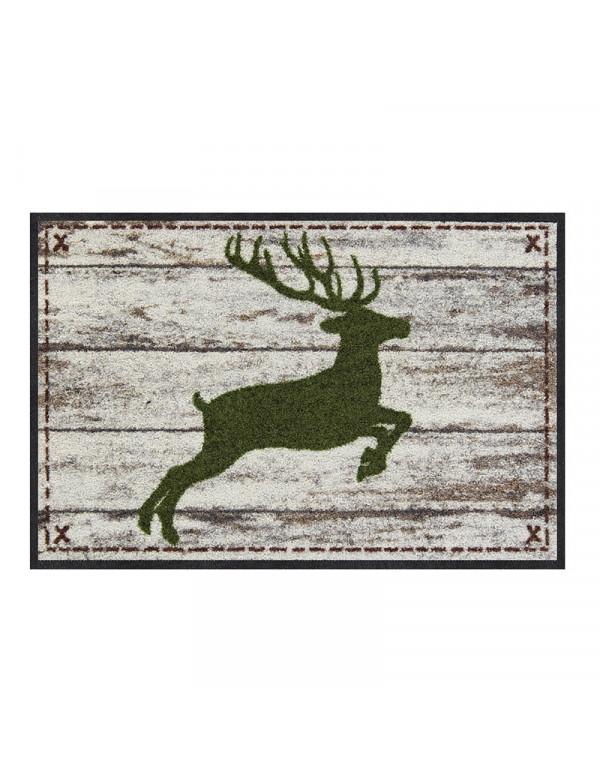 Door mat with deer motif in Birch tree design