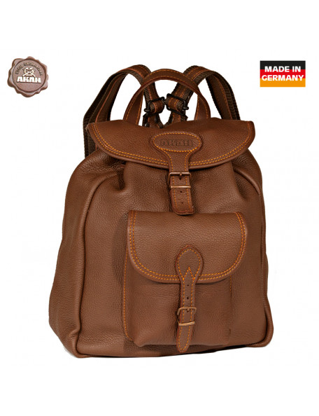 Beautiful backpack in moose leather