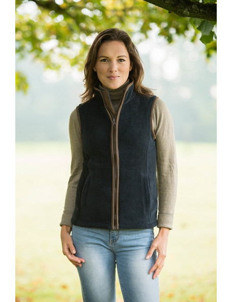 Stylish ladies fleece vest - Sally