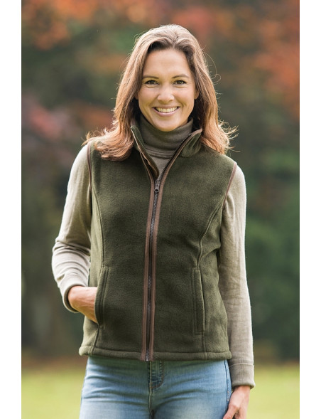 Sally en stilfuld fleece vest fra Baleno