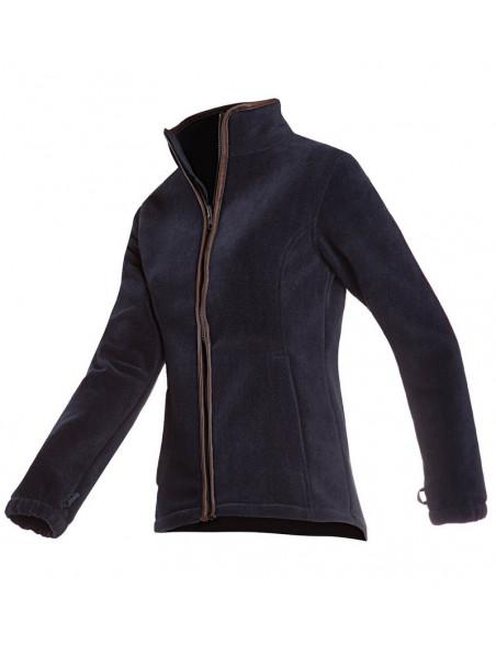 Stilfuld og klassisk fleece jakke fra Baleno - Sarah i marineblå farve