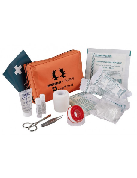 Extended first aid kit for the hunting dog