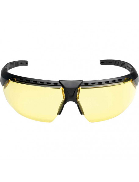 Shooting goggles with yellow glasses and anti-fog