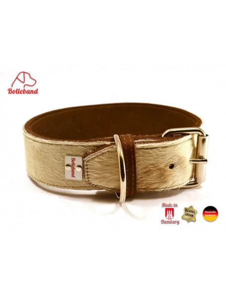 Hundehalsbånd med ko skinds design 45 mm
