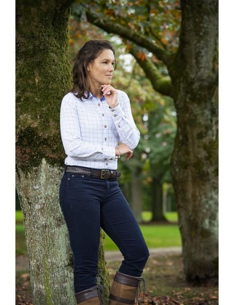 """Klassisk ternet skjorte """"Nina"""" i blød bomuld til kvinder fra Baleno"""