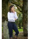 Classic checked soft cotton ladies shirt - Nina