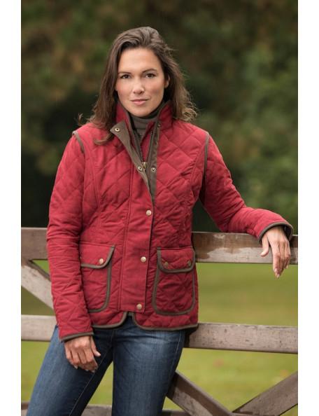 Moderigtig quiltet jakke i nubuck design