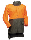 Rain jacket with orange safety colour