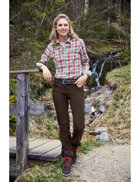 Brune Buffalo læderbukser til damer