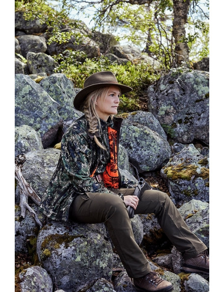 Groa vendbar camouflage fleece jakke til kvinder fra Northern Hunting