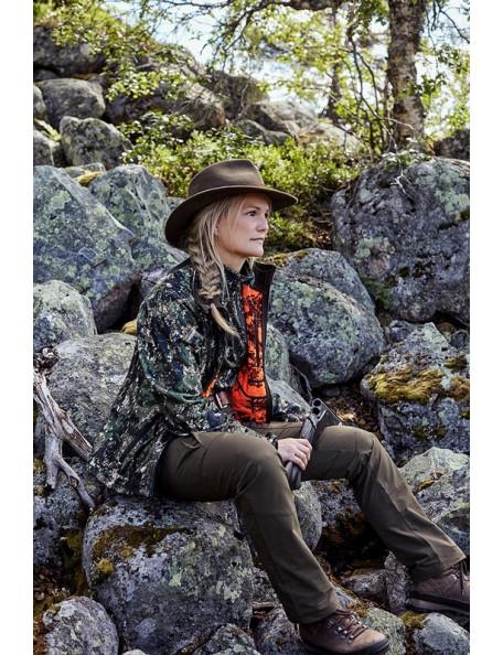 Reversible camouflage fleece women's jacket – Groa