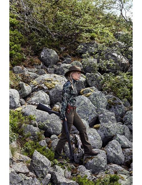 Women's fleece sweater in camouflage – Embla