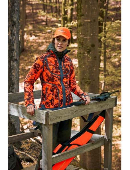 Vendbar camouflage fleece jakke til kvinder fra Parforce til jagt