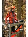 Reversible camouflage fleece jacket for women