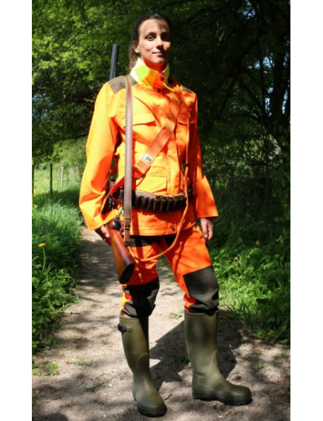 Orange hundförare jacka för kvinnor