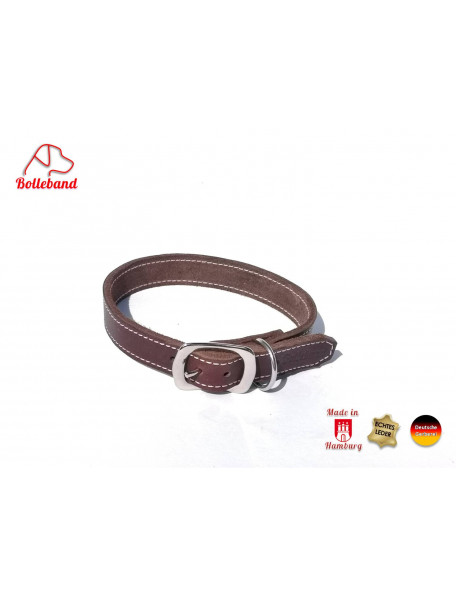 Classic cream brown dog collar